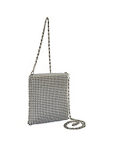 Ball Metal Mesh Crossbody Bag by Magid