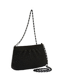 Ball Metal Mesh Crossbody Pouch by Magid