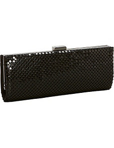 Metal Mesh Solid Long Clutch by Magid