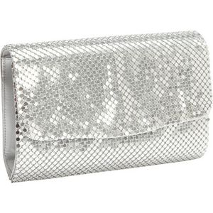 Metal Mesh Solid Clutch