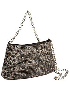 Metal Mesh Animal Print Chain Pouch by Magid