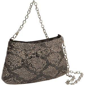 Metal Mesh Animal Print Chain Pouch