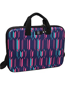 Chloe Dao Slim Laptop Brief - Chevron by Nuo