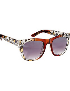 Animal Print Cat Eye Sunglasses by Jessica Simpson Sunwear