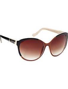 Dual Color Cat Eye Sunglasses by Jessica Simpson Sunwear