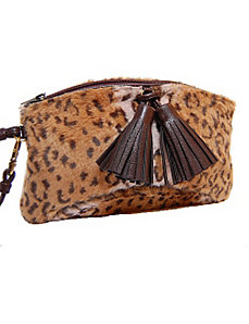 Leopard Faux Fur Mini Purse by Flying Daisies
