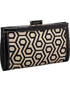 Hexagon 9s Straw Clutch by Nine West Handbags