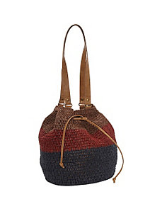 Watermill Striped Hobo by Straw Studios