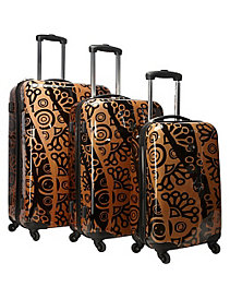 Canberra 3 Piece Hardside Spinner Luggage Set by Heys USA