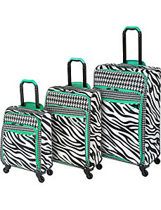 Aeorlite Zebra 3 Piece Spinner Set by Heys USA