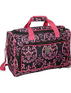 Pink Damask City Duffel by Jenni Chan