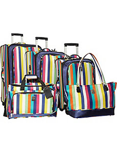 Multi Stripes 360 Quattro 5 Piece Luggage Set by Jenni Chan