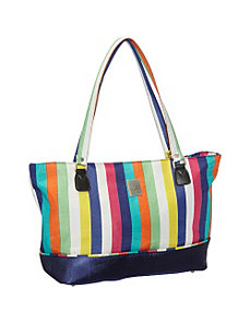 Multi Stripes Computer Tote by Jenni Chan