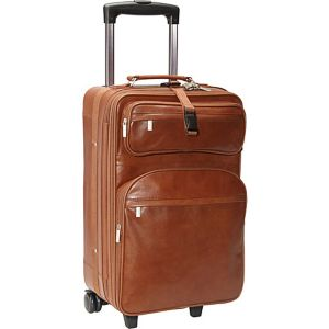 "Leather 22"" Expandable Carry On Pullman"