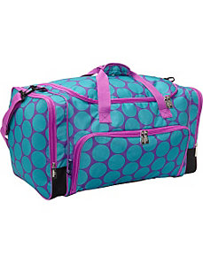 Big Dot Aqua Weekender Duffel by Wildkin