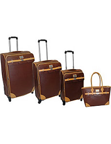 London Bridge 4 Piece Spinner Luggage Set by Adrienne Vittadini