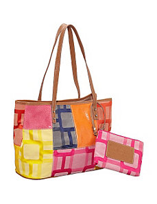 Vegas Signs Patchwork Shopper by Nine West Handbags