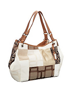 Vegas Signs Patchwork Large Tote by Nine West Handbags