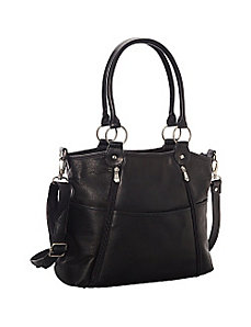 Nevington Convertible Satchel by Le Donne Leather