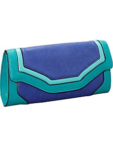 Imelda Tri-Colored Color Block Clutch by Melie Bianco