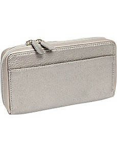 Large Full Zip Organizer Clutch Wallet by Derek Alexander