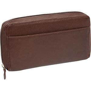 Large Full Zip Organizer Clutch Wallet
