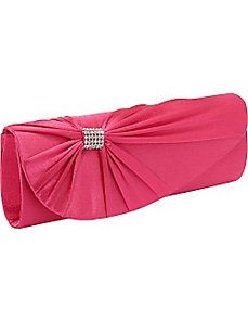 Satin Handbag with Pleats by Coloriffics Handbags