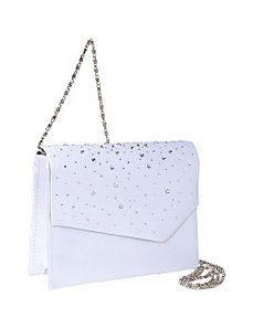 White Satin with Stones by Coloriffics Handbags