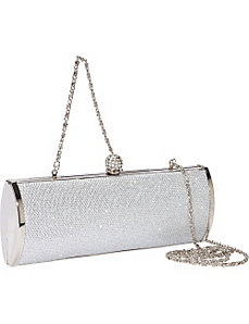 Textured Glitter Handbag with Metal Frame by Coloriffics Handbags