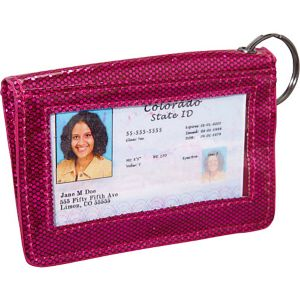 Jazz Glitter ID/Keychain Wallet