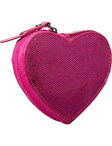 Jazz Glitter Heart Coin Purse by Clava