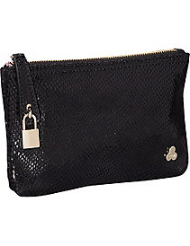 Ryan Embossed Snake Leather Clutch by Clava