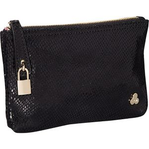 Ryan Embossed Snake Leather Clutch