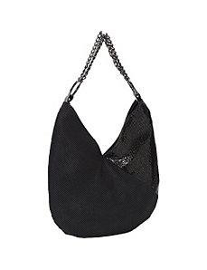 Matte/Shine Shoulder Bag by Whiting and Davis