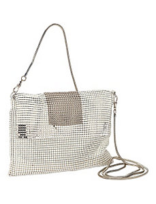 Graphic Mixed Mesh Crossbody by Whiting and Davis