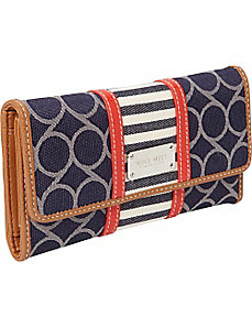 On Cloud 9 Denim Checksec Wallet by Nine West Handbags