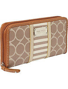 On Cloud 9 Denim Zip Around Wallet by Nine West Handbags