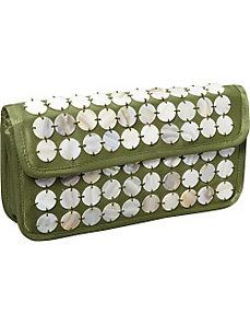 Polka Dot Shell Clutch by Global Elements
