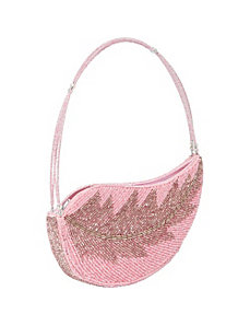 Beaded Leaf Handbag by Global Elements