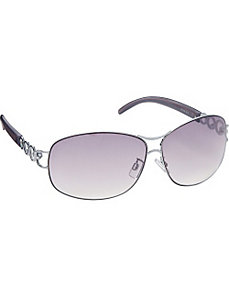 Oval Metal with Metal Design by Steve Madden Sunwear