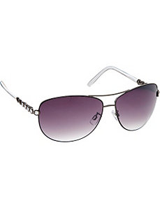 Combo Aviator with Metal Detail by Steve Madden Sunwear