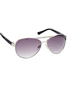 Combo Aviator with Stone Detail by Steve Madden Sunwear