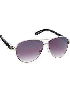 Combo Aviator with Quilted and Stone Design by Steve Madden Sunwear