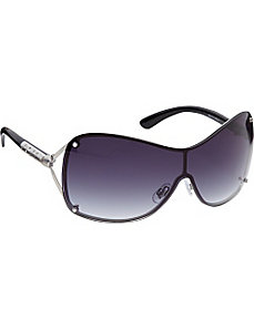 Back Frame Shield with Metal Detail by Steve Madden Sunwear