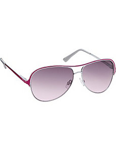 Metal Aviator with Colored Epoxy by Steve Madden Sunwear