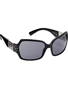 Rectangular Plastic with Stone Embellishment by Steve Madden Sunwear