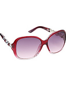 Plastic Rectangle with Jeweled Embellishment by Steve Madden Sunwear