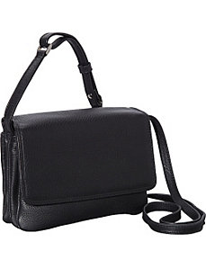 Small Half Flap Shoulder Bag by Derek Alexander