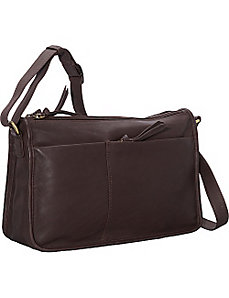 EW Twin Top Zip Semi Structured Handbag by Derek Alexander