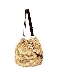 Raffia Shoulder Bag by Betmar New York
